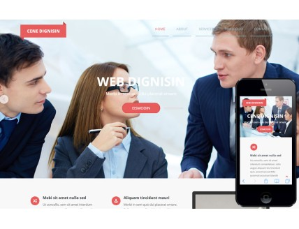 Cene Dignisin a Corporate Multipurpose Flat Bootstrap Responsive web template