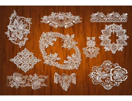 lace pattern psd material