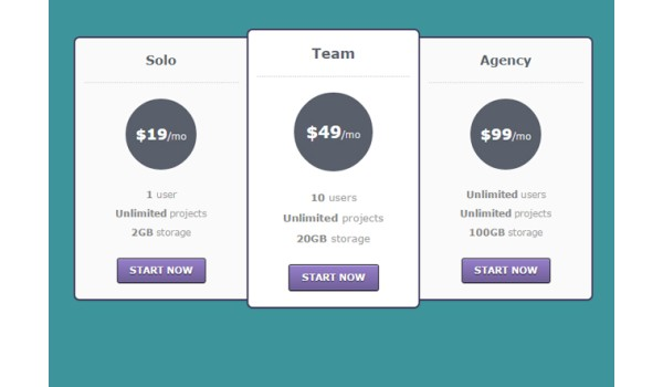 Best pricing table