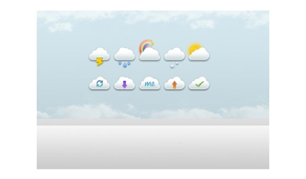 10 Clouds psd