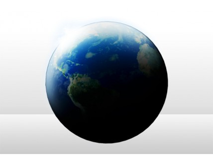 Earth & Moon psd