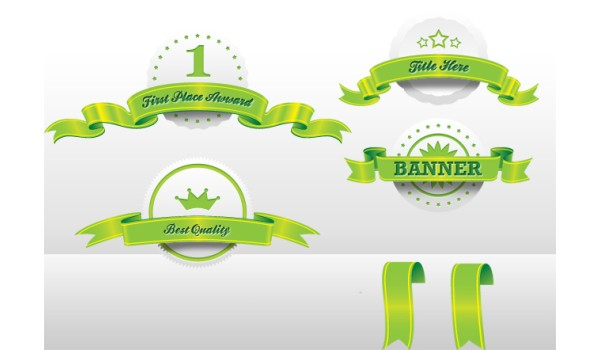 Ribbon PSD Set