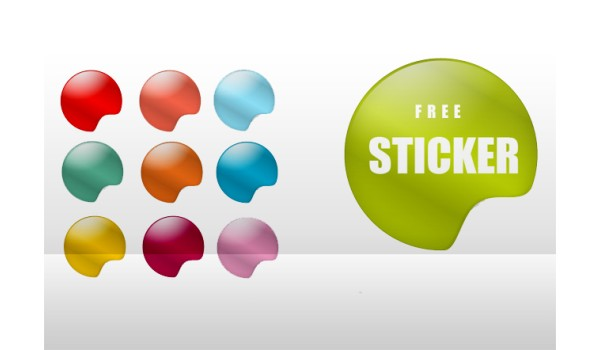 9 PSD Sticker Templates