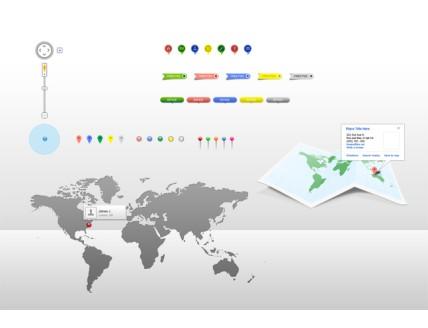 Maps UI PSD Set