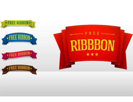 5 PSD Ribbon Templates