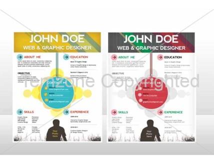 creative resume cv psd template cmyk print