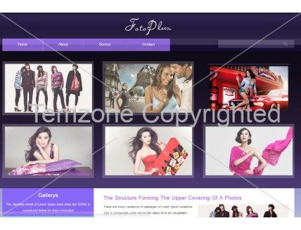 full Fotoplus Gallery Mobile Website Template